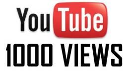 1000 visualizações vídeo youtube apenas R$ 22 + 500 de brinde o mais barato