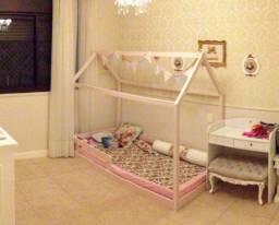 Cama infantil montessoriana Rosa com colchão - solteiro