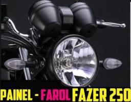 Painel da Fazer 250 Edição Limitada 2010 - Fundo Branco + Suporte, Farol e Piscas Original