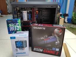 Placa mãe ga-b150m gaming 3 + i5 7400 + CPU cooler