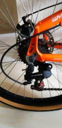 Bicicleta Aro 26 Freios Disco Toda Alumínio C/ Amortecedor Aceito Cartão