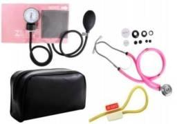 Kit Enfermagem Esfigmomanômetro e Estetoscópio Premium Rappaport