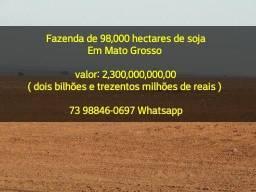 Fazenda de 98.000 hectares de soja em Mato Grosso