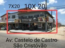 Ponto comercial na av: Castelo de Castro no são Cristóvão, 02 pontos comercias