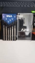 Jogo de chaves de precisão KALA (fenda e philips)