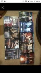 DVDs e livros série Supernatural