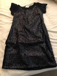 Vestido preto paetes Cavendish