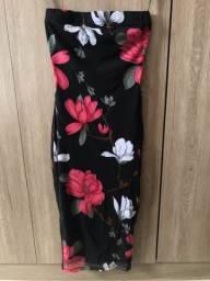 Vestido sereia floral
