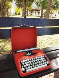 Medidas 30x30 Maquina de escrever antiga - antiguidade