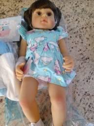 Boneca Bebe Reborn De Silicone 55cm Npk - Original