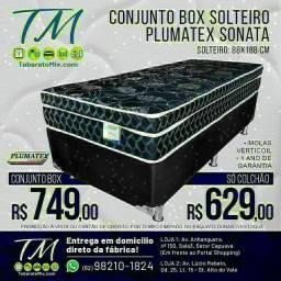 Conj. Solteiro Plumatex Sonata Black 26CM Molas Verticoil! , Apenas 749$!Frete Grátis<br>