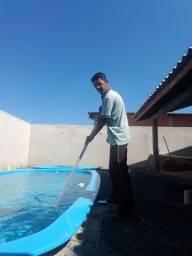 Tratamento manutenção limpeza da sua piscina
