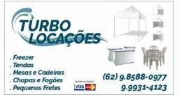 Locação de Freezer Tendas Sanfonadas e mesas