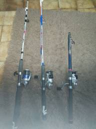 Conjunto de pesca novo ( molinete e vara )