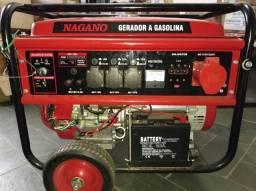 Gerador portátil Nagano NG8100E3 6400W bifásico e trifásico com tecnologia AVR 110V/220V