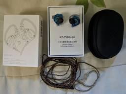 Fone intrauricular KZ ZS10 Pro + Case
