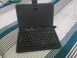 Capa tablet 7' com teclado USB + Cabo OTG Type B