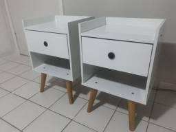Lindos Kit 2 Mesas de Cabeceira 100% MDF RETRÔ
