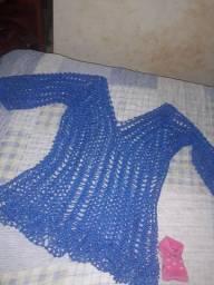 Blusa crochê nunca usada m,g