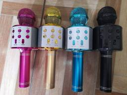 Microfone com Caixa de Som