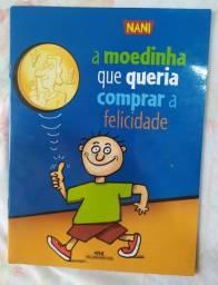 Livro infantil A moedinha que queria comprar a felicidade