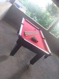 Mesa Tentação de Sinuca Cor Preta Tecido Vermelho Mod. BKFG2270