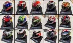 Coleção - Capacetes Moto GP - 21 peças