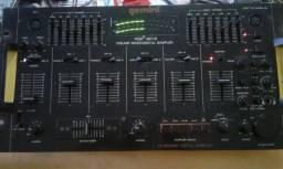 PRÉ amplificador mixer PDM-6012 conservado padrão Rack