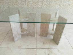 Mesa de centro de sala, Granito bege Bahia com Blidex bisote