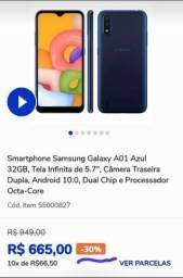 <br>Smartphone Samsung Galaxy A01 Azul 32GB,