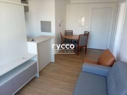 Apartamento novo 1 dormitório mobiliado com piscina, churrasqueira e academia, cidade Baix