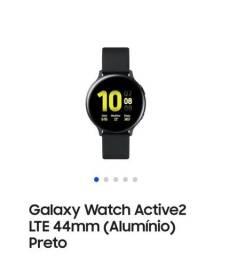 Título do anúncio: Galaxy Watch Active2 LTE 44mm (Alumínio) Preto