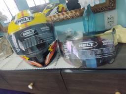 Vendo esse capacete HELT N°58 COM 2 VISEIRAS