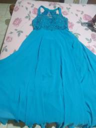 Título do anúncio: Vestido lindo azul turquesa