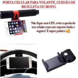 Suporte de celular para guidão e volante