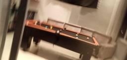 Mesa Charme Bilhar Cor Preta Tecido Preto e Borda Vermelha Mod. GACN6169
