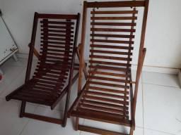 Título do anúncio: Cadeira preguiçosa de madeira nova