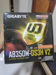 Placa mãe Gigabyte AB350M, AM4, DDR4