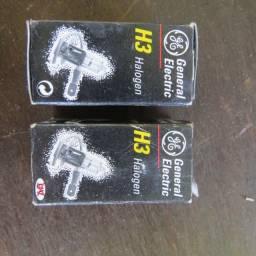 par de lâmpadas importadas general electric halogen 12V 55watt H3 PK22s