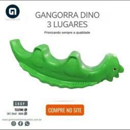 Gangorra Dino 3 lugares pronta entrega em ate 8x sem juros