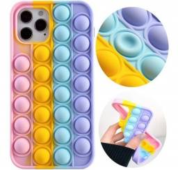 Título do anúncio: Capa Capinha P/ iPhone XR, Iphone 11 e Samsung S21 Anti Stress Pop It