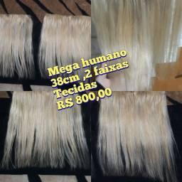 Mega cabelo humano loiro