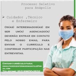 Título do anúncio: Cuidadores, técnicos e enfermeiros.
