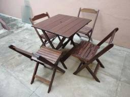 Mesa e Cadeira dobrável para bar