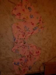 Blusa rosa florida