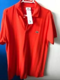 Camisa (gola polo) Lacoste, laranja, tam 3
