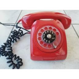 R$150 Telefone antigo Ericsson vermelho está funcionando
