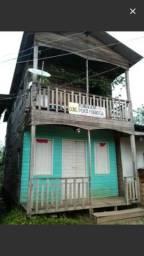 Casa 2 andares em madeira de lei
