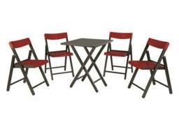 Conjunto mesa e cadeiras Tramontina novo