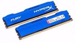 Memória Kingston Hyperx Fury 16gb 1866mhz Ddr3 Cl10 Blue - Hx (2 Pentes de 8Gb)